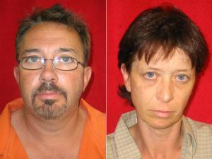 Billy Ray Morris, 43, and Kimberly McCann, 41, face multiple charges in connection with a methamphetamine bust at a Henderson hotel room.