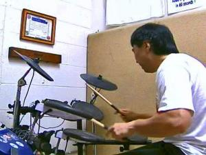 Eric Okamoto, of Clayton, proved again that he leads among the world's speed drummers by setting a new world record this summer.