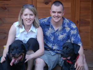 Capt. Michael Fielder of Holly Springs and his wife, Mary. Fielder died Sunday in Iraq while on duty with his unit from Fort Bragg, the Army said. (Fielder family photo)