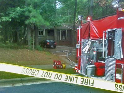 A house fire gave a rude welcome to some roommates moving into a Raleigh home.