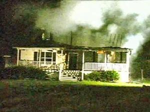 A fire destroyed a two-story house at 1074 Misty Lanelate Friday night, officials said.