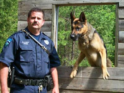 Chapel Hill Officer Rick Ennis with K-9 Otto