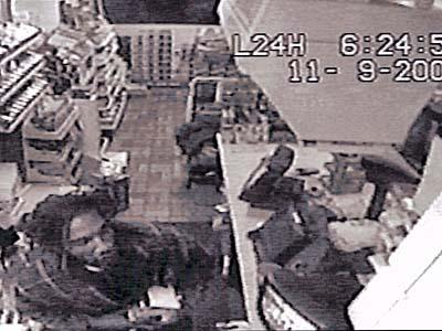 Surveillance photos show a man Fayetteville police believe assaulted a clerk at the Hess-Wilco station, 3706 Raeford Road, between 4:30 a.m. and 5 a.m.