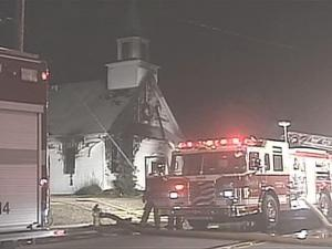 The two-alarm fire started just after 7 p.m. Monday at 1305 Hillsboro St.