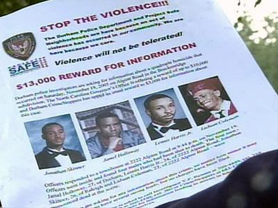 Juan Coleman, 27, Jamel Holloway, 27, Lennis Harris Jr., 24, and Jonathan Skinner, 26, were found lying on the carpet in a second-floor bedroom at 2222 Alpine Road on Nov. 19, 2005.
