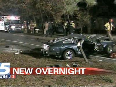 A crash early Friday, Nov. 23, 2007, on Garrett Road sent one person to a hospital.