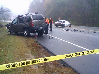 One person died in a multi-vehicle accident Monday, Nov. 26, 2007 in Durham.