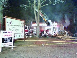 A fire broke out at Schumacher's by Design furniture on Glenwood Avenue on Monday, Dec. 17, 2007.