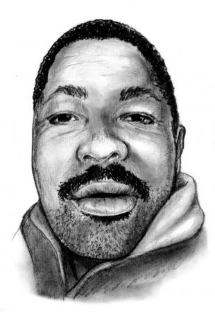 Police released this sketch of the man who was found dead.