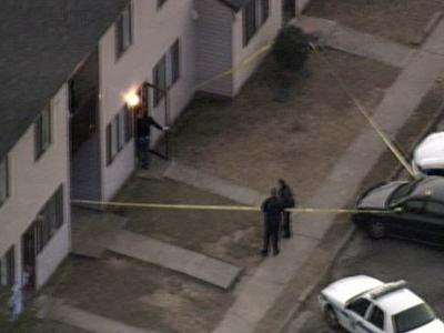 The shooting happened at 550 W Andrews Ave. at the North Henderson Heights Apartments.