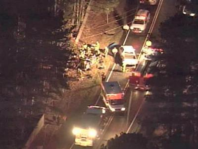 Sky 5 was over Six Forks Road after two vehicles collided.