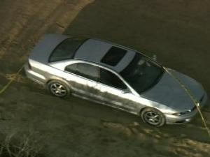The body of an unidentified man was found in this car Wednesday, Feb. 6.