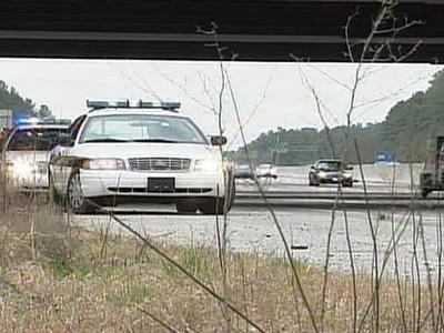 Durham police said a woman jumped from the Interstate 540 bridge Sunday, Feb. 17, 2008.