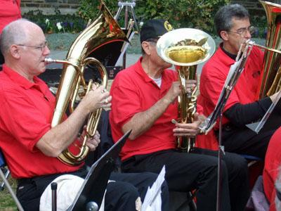 The Durham Community Civic Band provided CROP Hunger Walk entertainment.