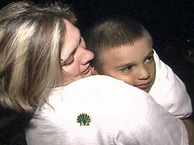 Brandy Paz welcomed her 6-year-old son, Adriano Avila, with tears of joy when searchers brought the Selma boy home late Friday, March 28, 2008.