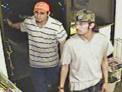 Raleigh police are trying to identify two men seen in this surveillance photo.
