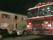 Person Jumps to Escape Apartment Fire