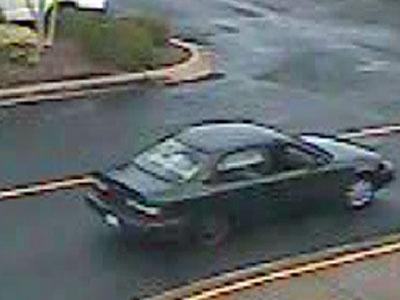 A surveillance video shows the suspect's vehicle.