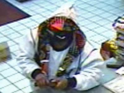 An image of the suspect taken by a surveillance camera.