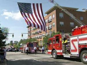Firefighters remember fallen comrades