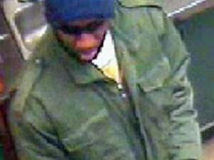 A surveillance photo from the Jan. 23 Subway robbery at 10540 Durant Rd.