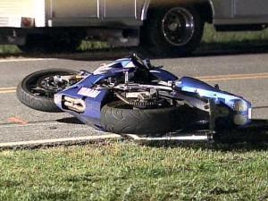 Two people were killed in a motorcycle crash Thursday evening in Johnston County.