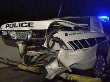 Woman charged with rear-ending Durham police vehicle