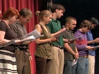 Friends of Irina Yarmolenko read her poetry aloud during the memorial Saturday, May 17, 2008.
