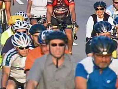 Bicycle riders in RTP took part in the worldwide Ride of Silence on Wednesday, May 21, 2008, to memorialize bicyclists killed on the road.