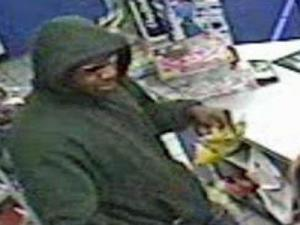 This image was taken from a surveillance tape of the robbery.