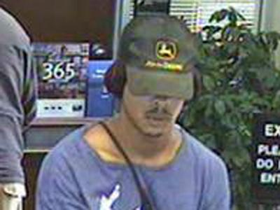 Police released this photo of the alleged robber taken from surveillance video.