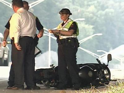 Authorities are investigating the accident that killed a motorcyclist on July 11, 2008.