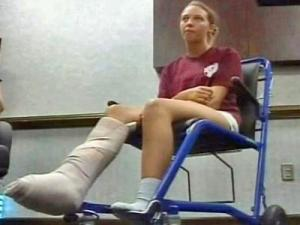 Bailleigh Foster, 14, of Sneads Ferry, was bitten by what doctors say was likely a shark in waist-deep water off Emerald Isle on Wednesday, July 9, 2008.