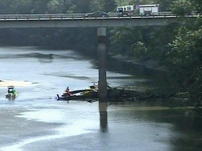 Fayetteville police are investigating some partially buried human remains found Thursday, July 17, 2008, below the Grove Street bridge.