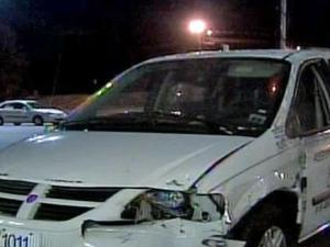 A driver crashed this minivan into a Durham Rent-a-Center early Friday, intending to steal items from the store, police said.