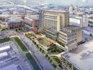 An artist's rendering of the planned Durham County Justice Building.