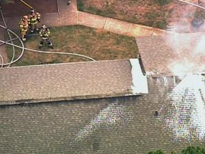 Raleigh firefighters were on the scene of an apartment fire on Shanda Drive July 29, 2008.