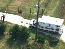 An image taken by Sky 5 of the location where a 3-year-old boy was found inside a hot vehicle on Aug. 5, 2008.