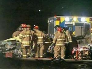 An accident backed up traffic along Interstate 40 eastbound near Gorman Street Thursday evening.