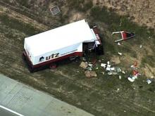 Utz delivery truck involved in I-540 wreck