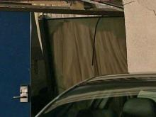 A car crashed through the front door of a guest room at the Best Western on Walnut Street late Saturday, Aug. 9, 2008.