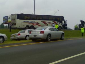 Highway Patrol pulled over a bus suspected of carrying illegal immigrants in Alamance County Wednesday.