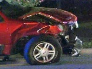 A teenage boy with autism, driving his family's sports utility vehicle, hit his father and an Apex home on Aug. 29, 2008.