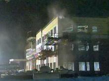 Rex healthcare construction site catches fire