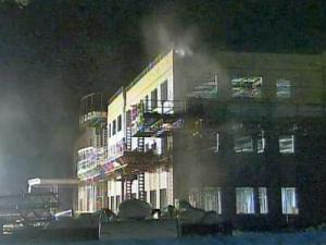 Firefighters were called to the construction site of the Rex healthcare center about 9 p.m. Thursday.