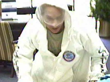 A surveillance camera at First Citizens Bank in Cary captured this image of a man wanted in connection with a bank robbery there.