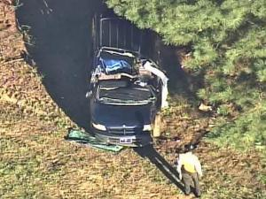 A vehicle rolled over at mile marker 113 in Wilson County around 4 p.m. on Friday, Oct. 3, 2008.