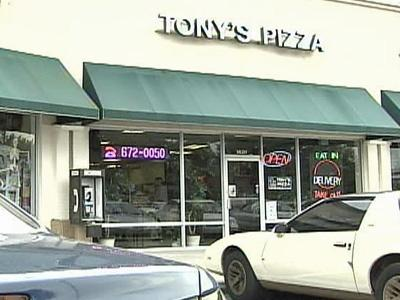 Fayetteville police are looking for two men who attacked a manager of Tony's Pizza, in the Bordeaux Shopping Center at Owen Drive and Village Drive.