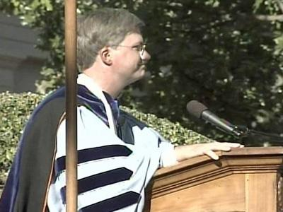 Holden Thorp was installed at a ceremony Sunday at Polk Place.