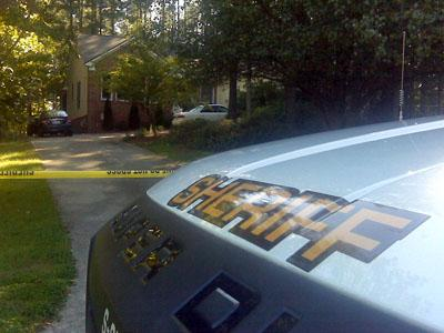 Officers were at a home at 5501 Bakers Mill Road in Durham where two bodies were found on Oct. 19, 2008.